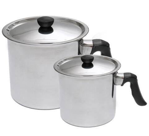 Silver Stainless Steel 304 Wax Melter Pot Big 2.5L Volume With Cover